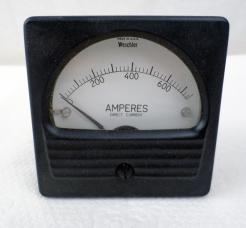 Weschler Electric 409C534A50 0-750 DC AMP Meter - Photo 1