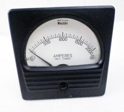 Weschler Electric 409C534A50 0-2000 DC AMP Meter - Photo 1