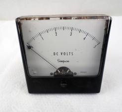 Used Simpson Model 27 DC Volt Wide View Analog Panel Meter - Photo 1