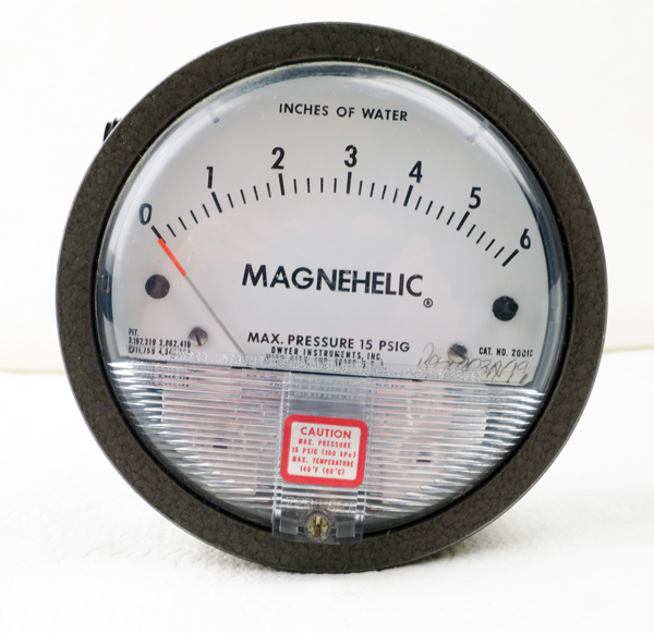 how to use a magnehelic gauge