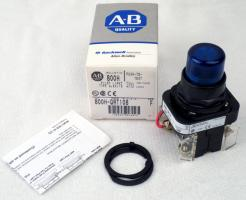 Allen-Bradley 800H-QRT10B Blue Pilot Light - Photo 1