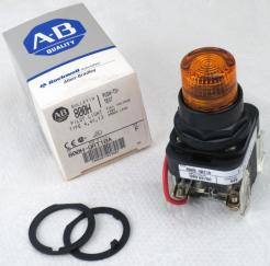 Allen-Bradley 800HQRT10A Amber Pilot Light - Photo 1
