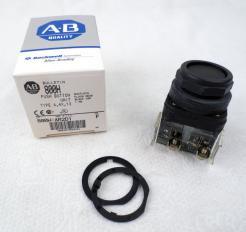 Allen-Bradley 800H-AR2D1 Black Push Button Switch - Photo 1