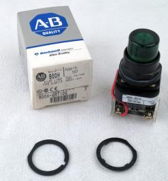 Allen-Bradley 800H-QRT10G Green Pilot Light - Photo 1