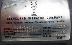 Used Cleveland Vibrator Company RES-1-2B Rotary Electric Vibrator - Photo 4