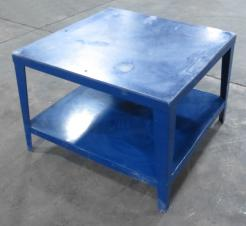 Used 48 x 48 Heavy Duty Steel Work Table With Acrylic Surface - Photo 2