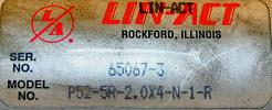Used Lin Act Air Cylinder, Model P52-5R-2.0x4-N-1-R - Photo 5