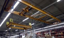 Used Illinois Crane 1 Ton Double Girder Underhung Overhead Bridge Crane - Photo 1