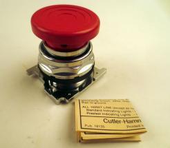 Cutler-Hammer 10250T122 Push Button Mushroom Head Red - Photo 1