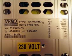 Used Vero Elektro-Automatik Monovolt PK60-FKK 136-010838J DC Power Supply