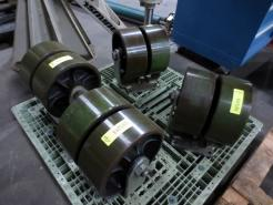 "Used Albion 12"" Diameter Heavy Duty Dual Wheel Rigid Casters - Qty 4 - Photo 1"