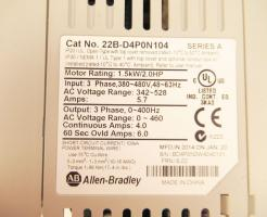 Used Allen Bradley PowerFlex 40 2.0HP (1.5kW) AC Drive 22B-D4P0N104 Series A -Photo 4