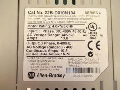 Used Allen Bradley PowerFlex 40 5.0HP (4.0kW) AC Drive 22B-D010N104 Series A-Photo 4