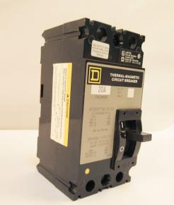 Surplus New Square D FAL24020 Thermal-Magnetic Circuit Breaker - Photo 1