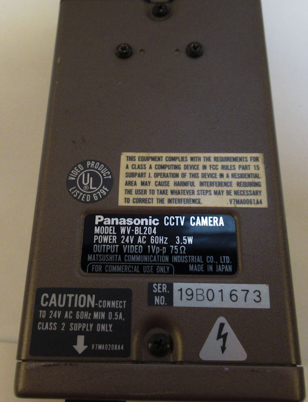 Used Panasonic WV-BL204 CCTV Camera