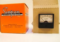 Surplus New Simpson Electric SP17807 Analog Panel Meter - Photo 1