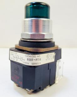 Used Allen Bradley 800T-PT16G Series D Green Illuminated Push-to-test Pilot Light - Photo 1