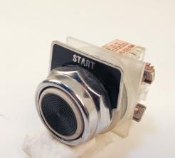 Used Square D 9001-KA2 Contact Block with Push Button Starter - Photo 1