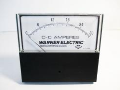 Surplus New Warner Electric YE/255-4 DC Amperes Panel Meter - Photo 1