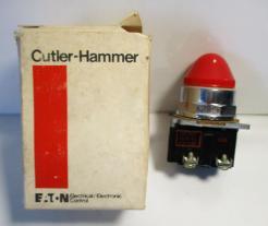 Cutler Hammer 10250T34R Original Style 120V Pilot Light-Photo 1