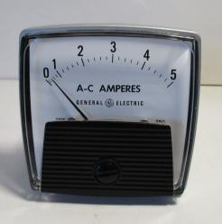 General Electric 50-250340LSLS 0-5 Amperes Panel Meter-Photo 1