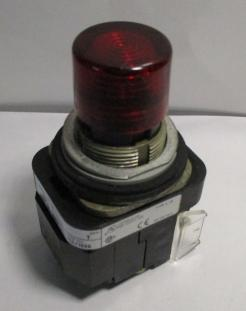 Used Allen Bradley 800T- PT16R Pilot Light LED Push-to-test 120VAC Red Transformer - Photo 1