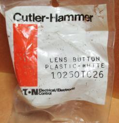 Cutler Hammer 10250TC26 30mm Plastic Illuminated White Pushbutton Cap - Photo 1