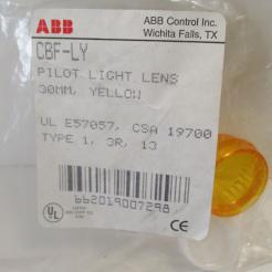 ABB CBF-LY 30MM Yellow Pilot Light Lens - Photo 1