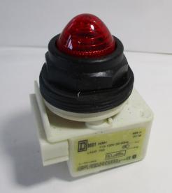 Square D 9001SKP1R9 30mm 110/120VAC Red Incandescent Pilot Light-Photo 1