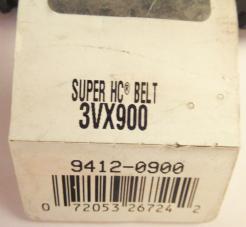 Gates Super HC Vextra 3VX900 Molded Notch V-Belt-Photo 3