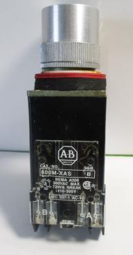 Used Allen Bradley 800MR-PA16S 10AMP 110/120VAC Momentary Green Illuminated Pushbutton-Photo 1