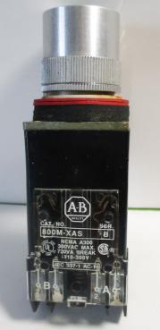 Used Allen Bradley 800MR-A2A Black 10A, 300VAC Non-Illuminated Pushbutton-Photo 1