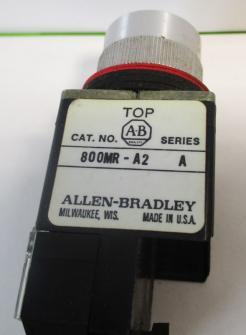 Used Allen Bradley 800MR-A2A Black 10A, 300VAC Non-Illuminated Pushbutton-Photo 3