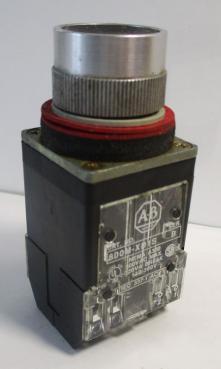Used Allen Bradley 800-MRA2B Black Non-Illuminated 2NO-2NC 10A 300VAC Pushbutton-Photo 1