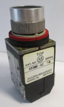 Used Allen Bradley 800-MRA2B Black Non-Illuminated 2NO-2NC 10A 300VAC Pushbutton-Photo 2