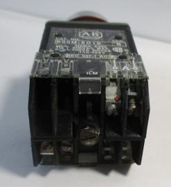 Used Allen Bradley 800-MRA2B Black Non-Illuminated 2NO-2NC 10A 300VAC Pushbutton-Photo 3