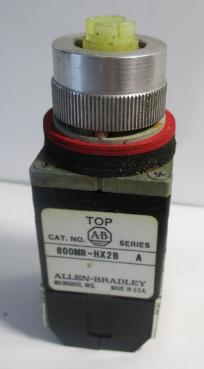 Used Allen Bradley 800MR-HX2BBS 2-Position 2NO-2NC 10A 300VAC Selector Switch-Photo 1