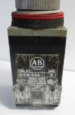 Used Allen Bradley 800MR-HX2BBS 2-Position 2NO-2NC 10A 300VAC Selector Switch-Photo 2