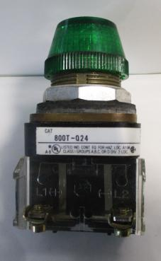 Used Allen Bradley 800T-Q24G Green Pilot Light-Photo 1