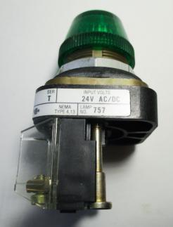 Used Allen Bradley 800T-Q24G Green Pilot Light-Photo 2