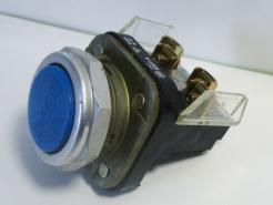 Used Allen Bradley 800T-A7A Blue Flush Head Momentary Pushbutton Switch-Photo 1