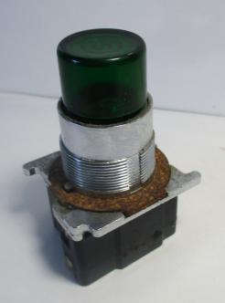 Cutler Hammer 10250T411C22 Green Illuminated Pushbutton-Photo 1