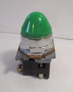 Used Cutler Hammer 10250T-34G-OLD Green Lamp Pilot Light-Photo 1