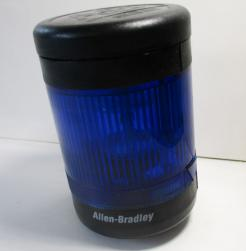 Used Allen Bradley 855T-B24GL6 70mm 24VAC/DC Blue Stack Light-Photo 1