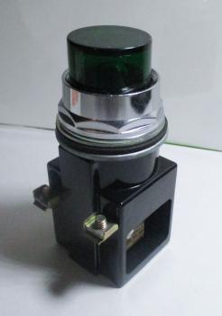 Siemens Furnas Electric 52PA4GN Green Lens Pilot Light-Photo 1