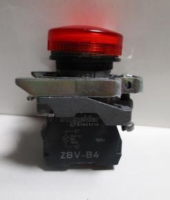 Schneider Electric ZBV-B4 Light Block withZB4-BV043 Red Pilot Light Head-Photo 1
