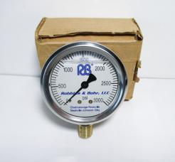 Robbins & Bohr RB0-3000 PSI Pressure Gauge-Photo 1