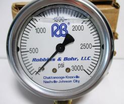 Robbins & Bohr RB0-3000 PSI Pressure Gauge-Photo 2