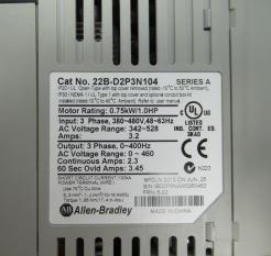Used Allen-Bradley PowerFlex 40 22B-D2P3N104 1.0HP AC Drive-Photo 3