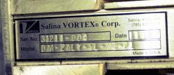 Used Salina Vortex 2-Way Wye Line Diverter Valve, Model DA4-2ALY-SL-MG-P1 - Plate Photo